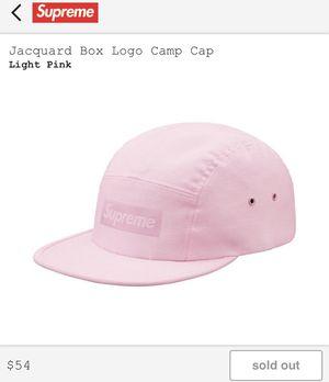 Supreme® Jacquard Box Logo Camp Hat in Light Pink for Sale in Bristol, CT