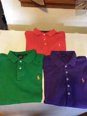 (3) Women's Ralph Lauren Polo shirts for Sale in Atlanta, GA