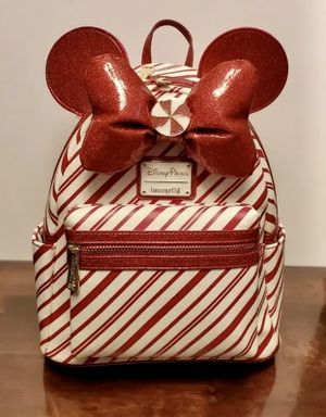 Disneyland Park 🎄Candy Cane Loungefly backpack🎄 for Sale in Glendale, CA