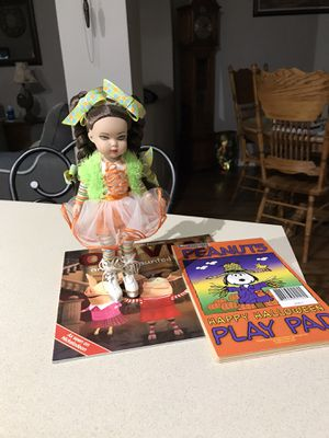 Halloween doll & books for Sale in Melbourne, FL