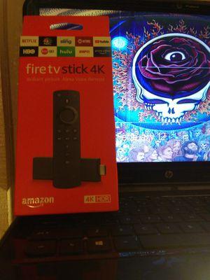 Amazon Firetv Stick 4k with talking Alexa remote for Sale in Joplin, MO
