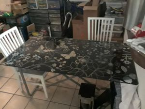 Floral Glass Table or Desk for Sale in Haines City, FL