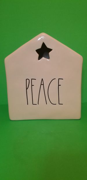 Rae Dunn Ceramic PEACE House/Candle Holder for Sale in Milton, PA