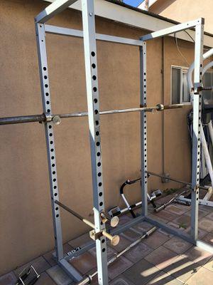 Home Gym Squat Rack Dumbbells Bench Press Equipment for Sale in Huntington Park, CA