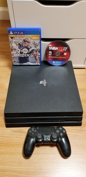 PS4 PRO w/ 2 GAMES, NO TRADE, PRICE FIRM, GREAT CONDITION for Sale in Garden Grove, CA