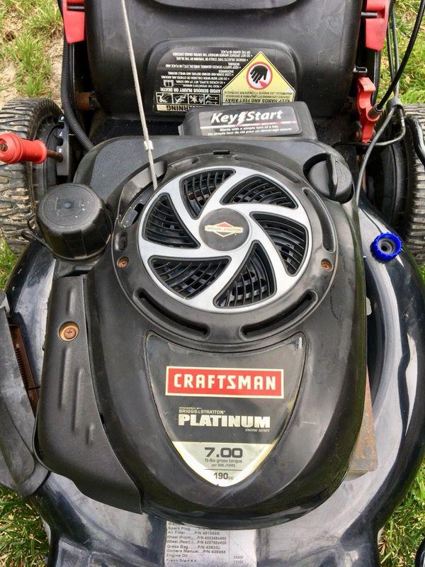 Craftsman EZ Walk Lawn Mower, Model 917 474551, Briggs & Stratton Platinum  Series Engine,190cc, Key Start for Sale in San Diego, CA - OfferUp