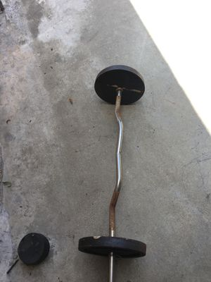 CURL BAR Weights 50 LBS for Sale in Upland, CA