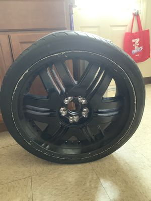 20 inch Rims, chrome part painted black but you can sand it away. Last pic is how it originally looks for Sale in Dedham, MA