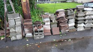 Free tiles and pavers and cinder blocks ect. for Sale in Federal Way, WA