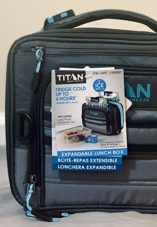 Titan Deep Freeze 2-Pack Expandable Lunch Box with 2 Ice Walls