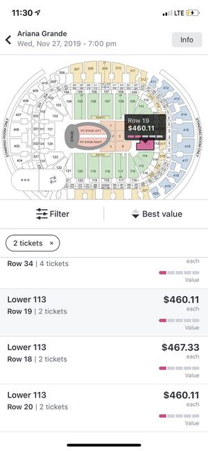 Ariana Grande at American Airlines Arena Lower section 113!! for Sale in Aventura, FL