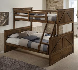 Bunk bed twin over full with mattress brand new for Sale in Phoenix, AZ