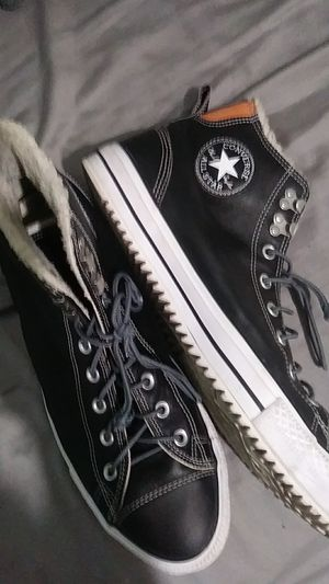 Converse (Size 12) - Leather & Fur for Sale in West Palm Beach, FL