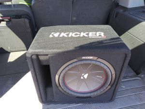 Kicker comp r 12 subwoofer with pioneer amp in sealed box for Sale in Manassas, VA