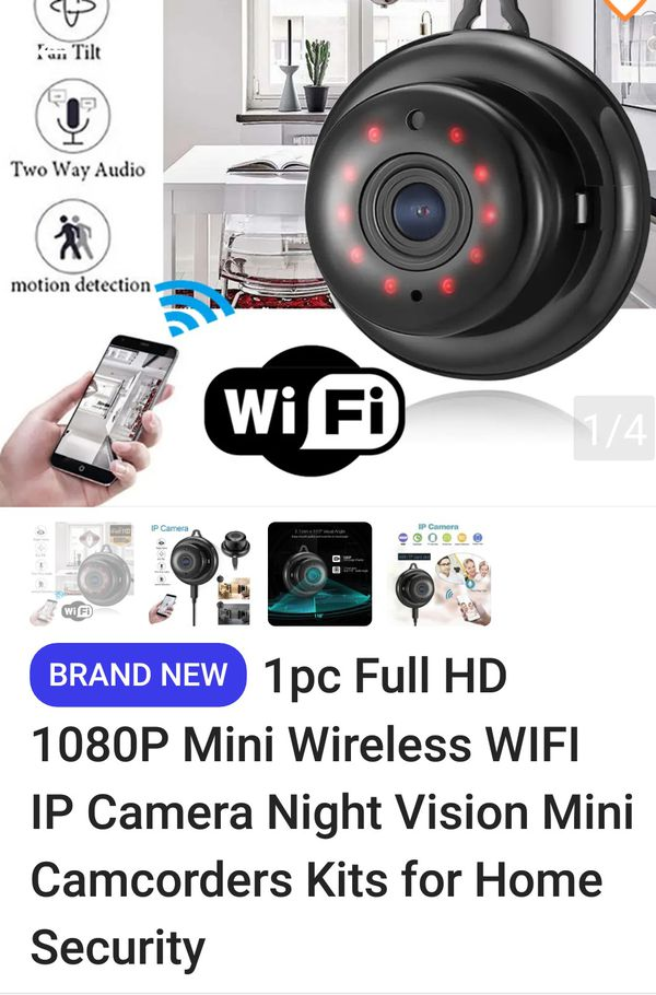 1080 P Hi Def Mini Wireless WiFi IP Camera Night Vision Mini Camcorder Kit Home Security