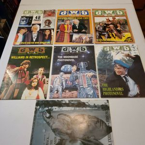 DWB Magazine #65, 67, 68, 83, 85, 89, And 92, Journal Of British Television, Lot Of 7. Doctor Who.. for Sale in Fresno, CA