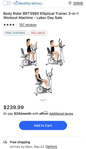 Like New Body Rider 3 in 1 Elliptical Workout Trainer for Sale in Atlanta, GA