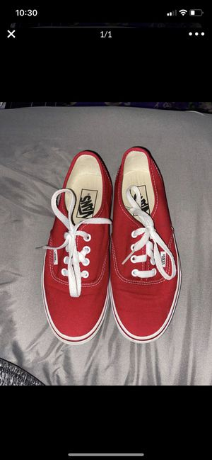 Red vans shoes for Sale in Highland, CA