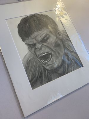 Incredible Hulk Hand Sketch for Sale in Flowery Branch, GA