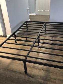 Full Size 14in Metal Bed Frame for Sale in Seattle,  WA