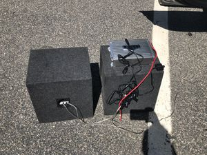 Kicker subwoofer and 1500 Boss amp for Sale in Sudbury, MA