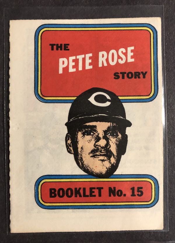 VINTAGE 1970 TOPPS COMIC BOOK STORY BOOKLETS LOT OF 4 PETE ROSE, ERNIE BANKS, ORLANDO CEPEDA