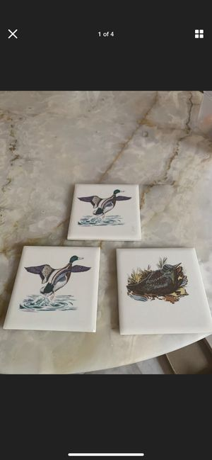 Three Duck Tile Sierra Hand Painted Prints Clay for Sale in Delray Beach, FL