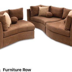Brown Microfiber Puzzle Piece Couch Set for Sale in San Diego, CA