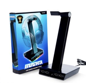 LED Headset Stand for gamers 4 USB ports for Sale in Sacramento, CA