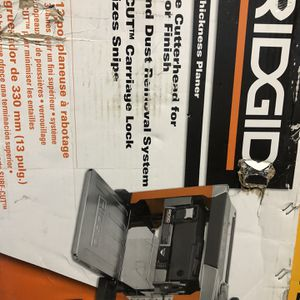 RIDGID 13 in. Thickness Corded Planer for Sale in Anaheim, CA