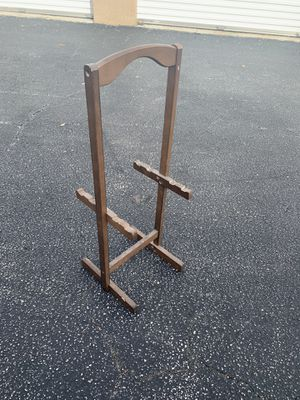 Brown Solid Wooden Framed TV tray stand! Very sturdy, great holder to have for the living room! Dimensions: 11.5x10x31in for Sale in Royal Palm Beach, FL
