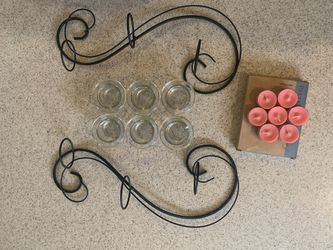 Hanging candle votive w/ tea lights for Sale in Upland,  CA