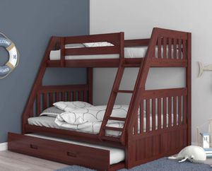 NEW BUNK BED FULL TWIN WITH TRUNDLE BED AND NEW MATTRESS INCLUDED for Sale in Miami Beach, FL