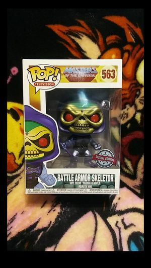 Funko Pop Masters of the Universe Battle Armor Skeletor (Metallic) Gemini Collectibles Exclusive Special Edition #563 for Sale in Cypress, CA