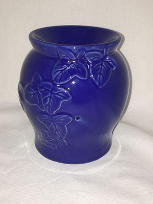 Cobalt Blue Ceramic Pottery Floral Leaf Wax Melt Candle Holder for Sale in Surprise, AZ