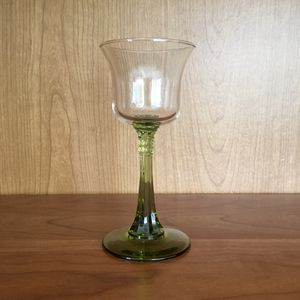 Vintage green glass glassware stem compote cup bowl for Sale in Orange, CA