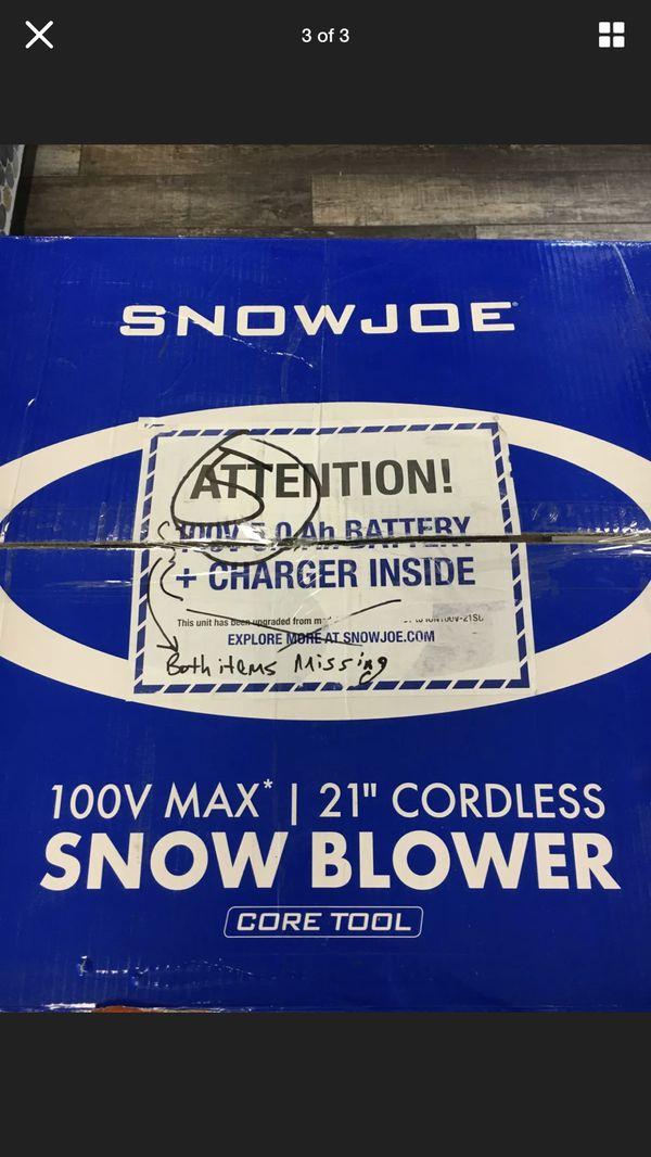 SNOWJOE - ion200v-21sb-ct - SNOW BLOWER LAWN & GARDEN