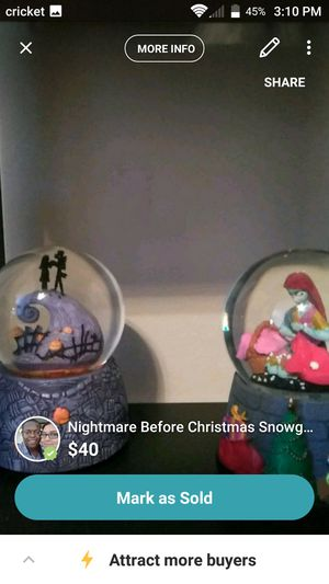 Nightmare Before Christmas snow globes for Sale in Sandy Springs, GA