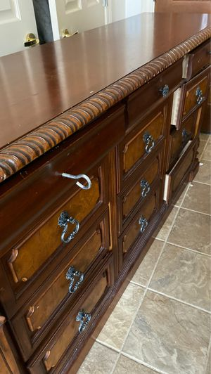 Cherry wood. 12 drawers 6 feet long. for Sale in Freeland, MI