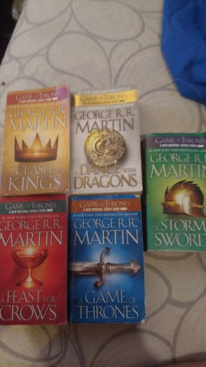 Game of thrones books for Sale in Pasadena, TX
