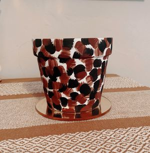 Painted Terracotta Flower Pot for Sale in San Diego, CA
