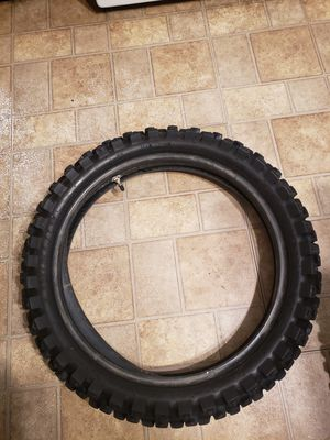 2 dunlop tires both geomax mx52 120-80-19 & 80-100 - 21 for Sale in Colorado Springs, CO