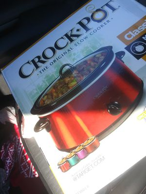 Red, blk and stainless steel 6 quart crock pot for Sale in Orange Park, FL