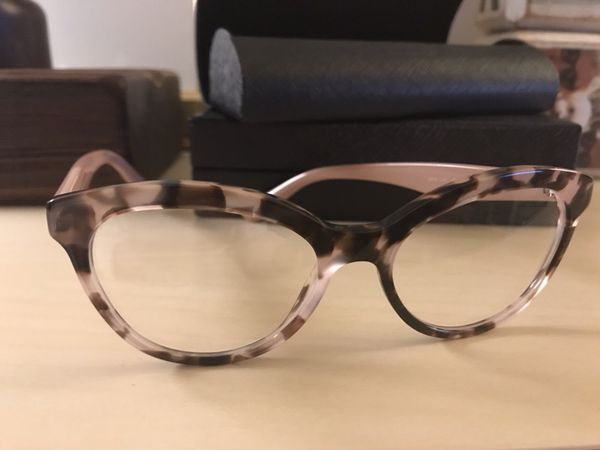 16752cd13ec Eyeglasses- Prada PR 11RV TRIANGLE ROJ1O1 Pink Havana for Sale in ...