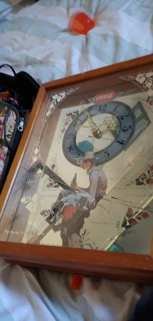 Vintage Coca-Cola clock Norman Rockwell Tom Sawyer Edition for Sale in Redondo Beach, CA