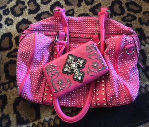 Hot,Pink,Diamond Studded Purse for Sale in Columbus, OH