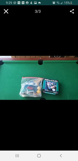POOL TABLE/AIR HOCKEY TABLE for Sale in Pomona, CA