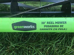 "Green works 20"" reel mower for Sale in Cashmere, WA"