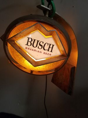 Vintage Busch Bavarian Beer Lighted Globe for Sale in Murfreesboro, TN