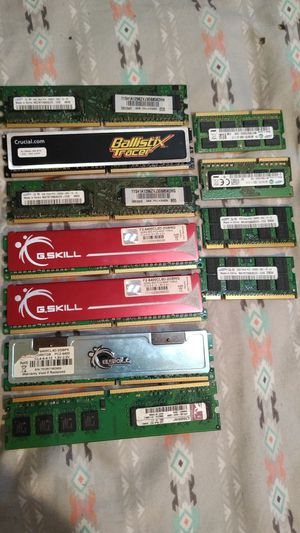 Laptops and desktop memory lot ddr3 and ddr2 for Sale in Camden, NJ